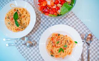 Паста с морепродуктами в сливочном соусе — рецепт с фото