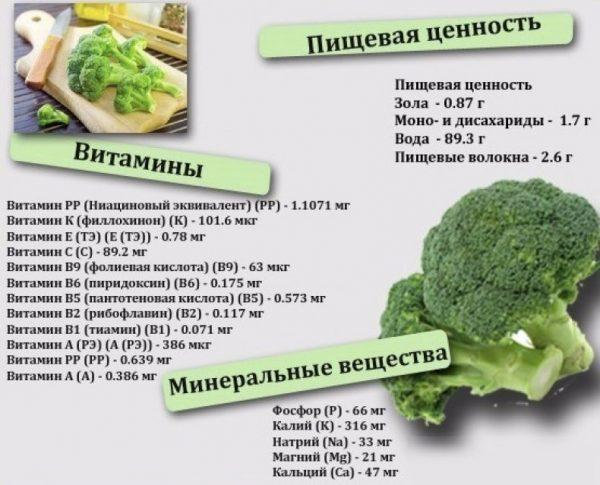 Брокколи: описание, фото, состав, калорийность, полезные свойства