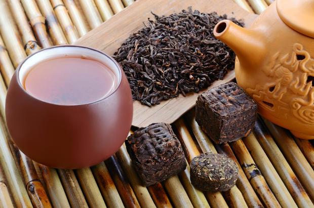 Виды чая пуэр: рассыпной и прессованный: полезные свойства