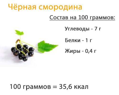 Смородина - состав, калорийность, витамины, минеральные вещества