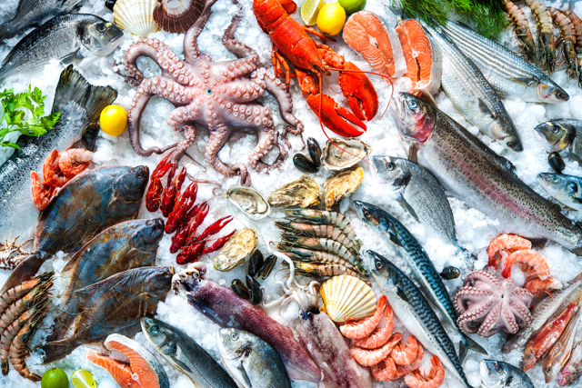 Виды морепродуктов: состав и полезные свойства