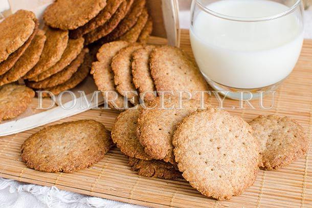 Цельнозерновое печенье: рецепт с фото