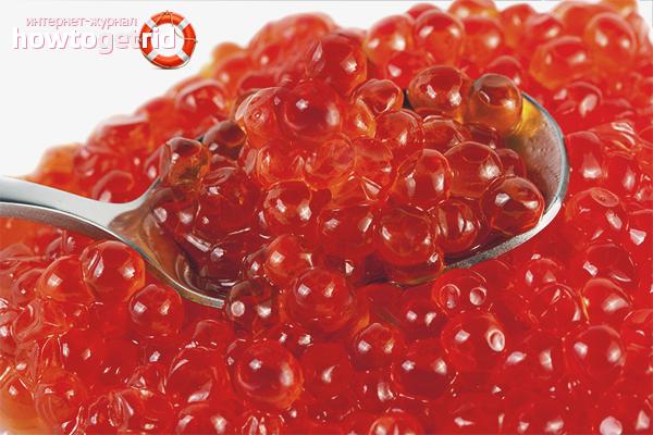 Красная икра: полезные свойства и противопоказания, состав красной икры