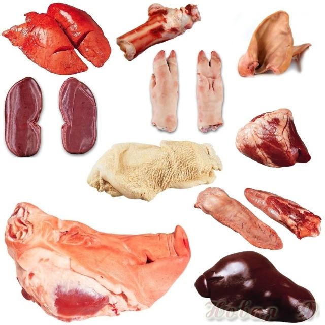 Субпродукты название и фото, состав, калорийность