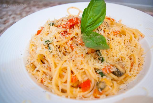 Паста с морепродуктами в сливочном соусе - рецепт с фото